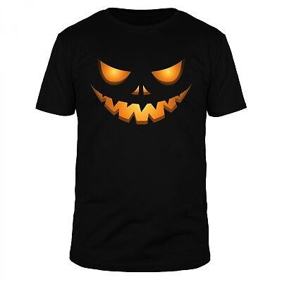 Erschrecken Halloween (Halloween Kürbis Kopf Pupkin Gesicht Horror Kostüm Oktober Erschrecken Shirt)