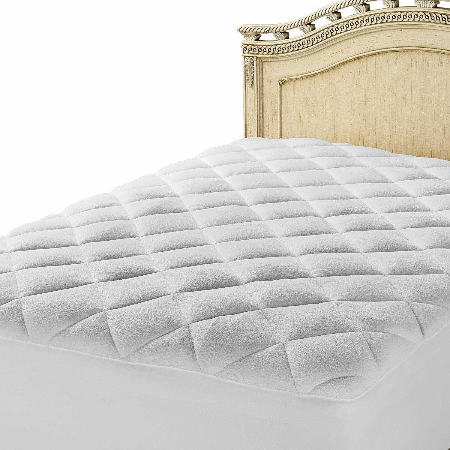 Mastertex Down Alternative Mattress Pad Cover, Double Puff Q