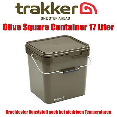 Trakker Olive Square Container 17 Liter - Futter Baits Eimer Futtereimer Boilies