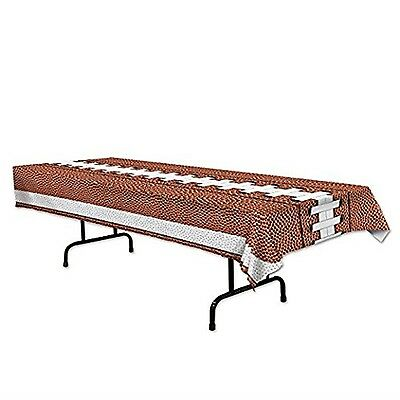 FOOTBALL Tailgate Superbowl Sports Party Decoration FOOTBALL PRINT Table Cover