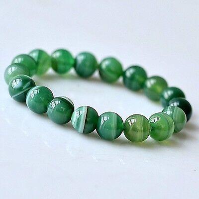 Feng Shui handmade agate gemstone beads bracelet for protection-g