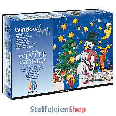 "Nerchau Window Color ""Winter World"" - Malvorlage Fensterfarbe Glasmalfarbe Art"