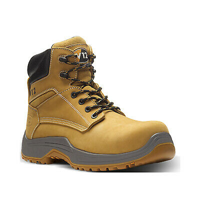 V12 Puma Lightweight Safety Work Boots Tan Honey (Sizes 3-13) Men's Shoes