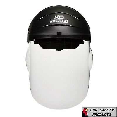 Full Face Safety Shield Helmet Mask Clear Integrated Visor Molded Protective Mcr