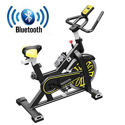 Home Exercise Bike Fitness Cardio Training Workout Machine 15kg Wheel Bluetooth