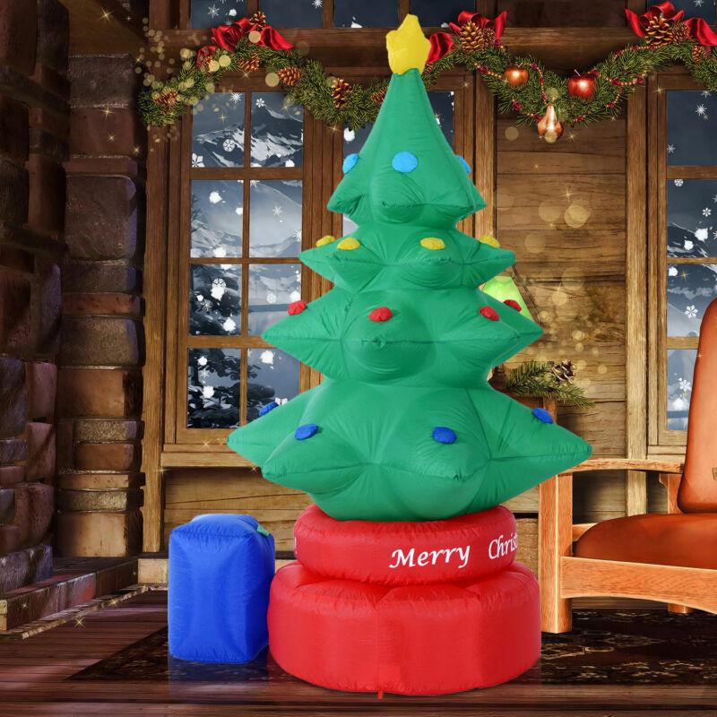 7FT Animated Rotating Inflatable Christmas Tree Lighted Xmas Yard Decorations
