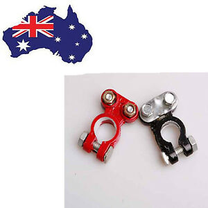 2Pcs universal Auto Car Vehicle Battery Terminal Aluminum Clamp Clips Connector