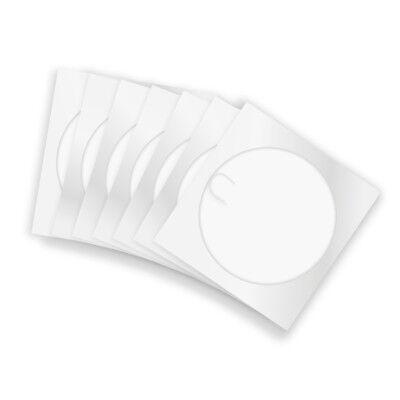 100 CD papierhüllen Hülle Sleeves mit Lasche Papierumschlag weiß mit Fenster
