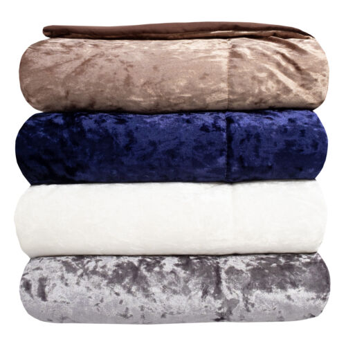 Olivia Crushed Velvet Throw Blanket by Sweet Home Collection 50″ x 60″ Bedding