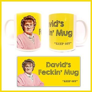 MRS-BROWNS-BOYS-FECKIN-MUG-Browns-Boys-PERSONALISED-CUSTOM-Any-Name