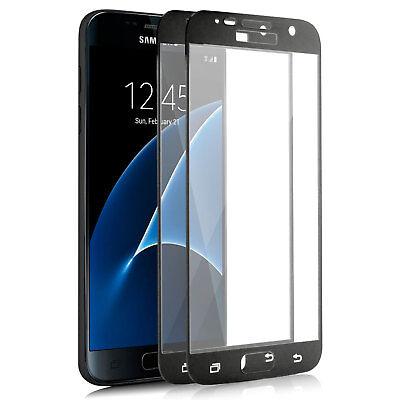2x Full Cover Display Schutz Glas für Samsung Galaxy S7 Echt 9H-Panzer Glasfolie