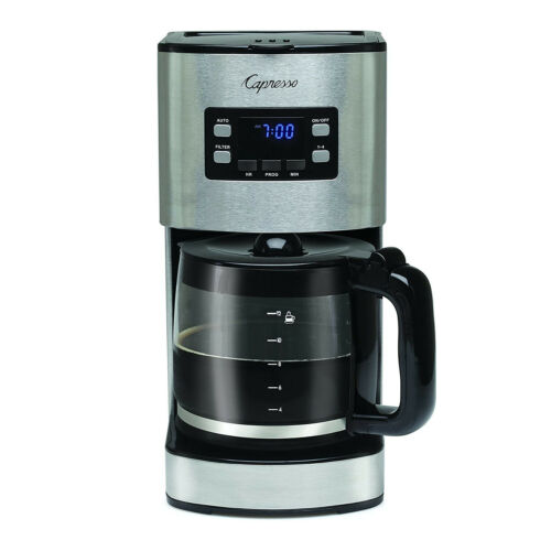 Capresso SG300 12Cup Coffee Maker Stainless Steel