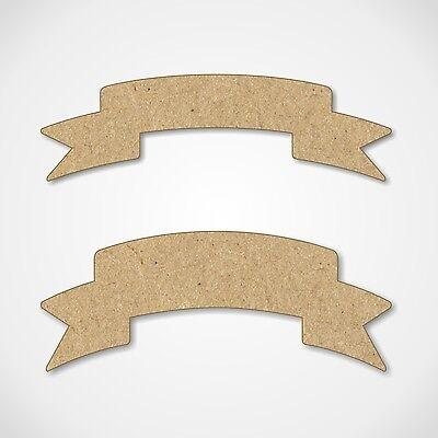 apes Wooden Craft Blanks Decoration Embellishments - 5 Pack (Ribbon Banner)