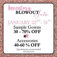 Wedding gown blow out sale.