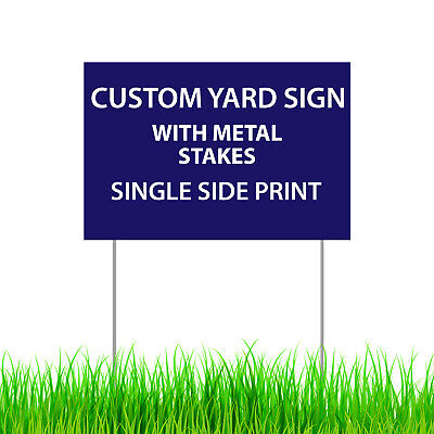 Custom Print Yard Signmetal Stakes Outdoor Lawn Double Sided Corrugated Sign