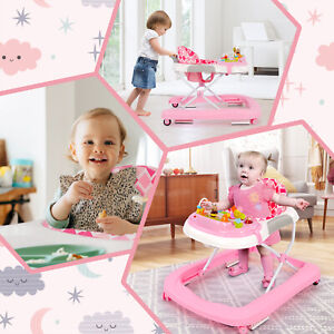 2 In 1 First Steps Toddlers Walkers Fun Push Along Walker with Sounds Music Toys