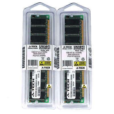 - 1GB KIT 2 x 512MB DIMM DDR NON-ECC PC2100 266MHz 266 MHz DDR-1 DDR1 Ram Memory