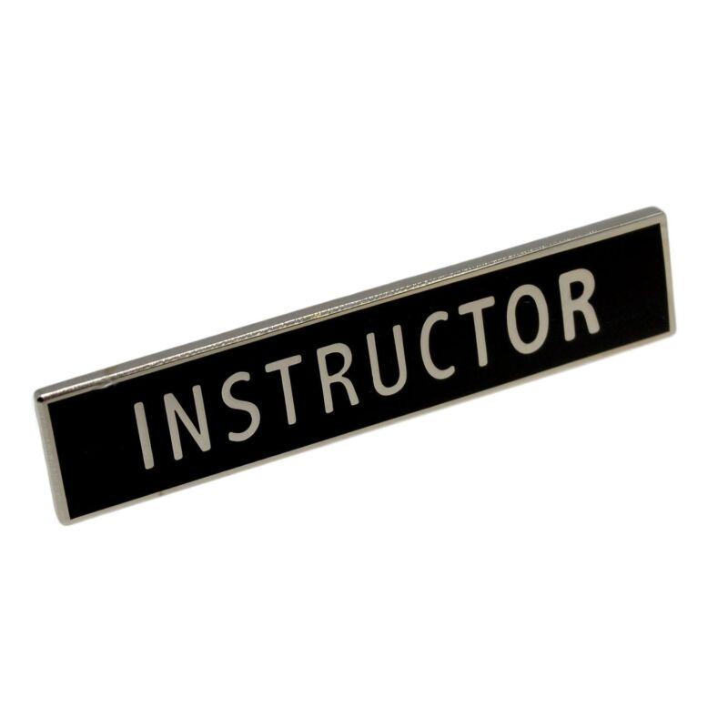 Instructor Citation Bar Police Certification Merit Award Lapel Pin