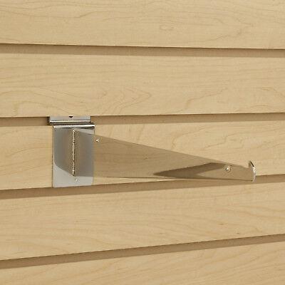Chrome Slatwall Shelf Knife Brackets With Lip - Lot Of 25 - New - Multiple Sizes