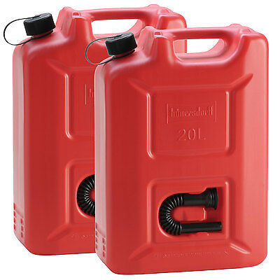 2x PROFI Kraftstoffkanister 20 L ROT Reservekanister Benzinkanister Kanister UN