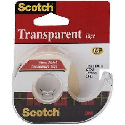 Scotch Brand Transparent Tape Narrow Width Versatile Glossy Finish Truste...