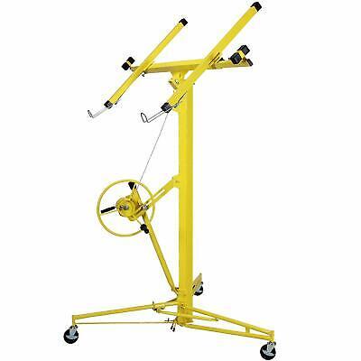 16-19 Yellow Drywall Panel Lifter Hoist Jack Rolling Caster Lockable Diy Tool