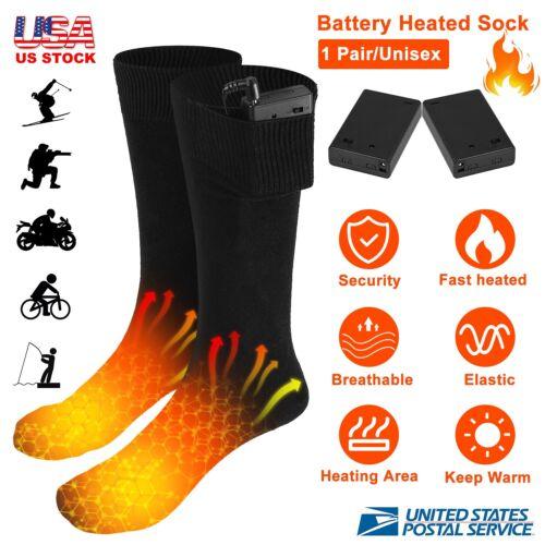Battery Powered Electric Heated Socks Boot Feet Warmer Long