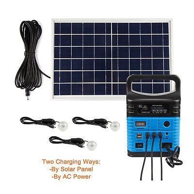 Solar Panels Lighting Kit 10W Portable Power Generator USB Cable 3 LED (Portable Power Kit)