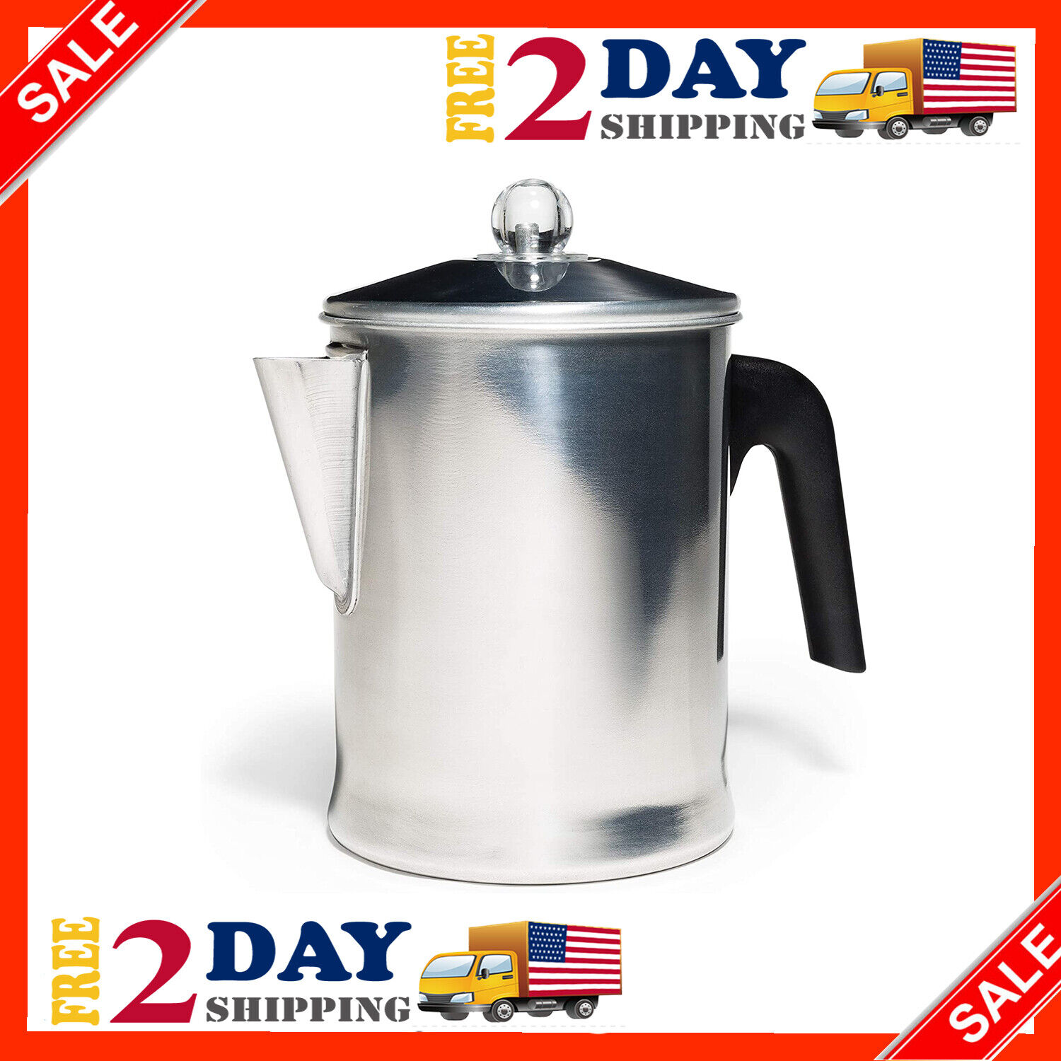 Farberware Stovetop Percolator Heavy Duty Aluminum Yosemite