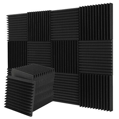 12x Donner 1Inch Thick Acoustic Foam Panels Wedges Studios Fireproof Soundproof