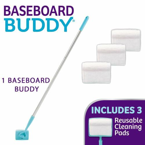 Baseboard Buddy Adjustable Cleaning Tool makes cleaning baseboards super easy