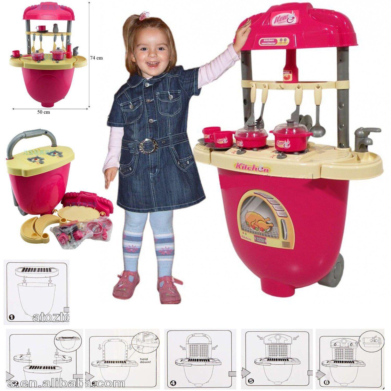 Kids Children Baby Toy Kitchen Pretend Play Set Cooking