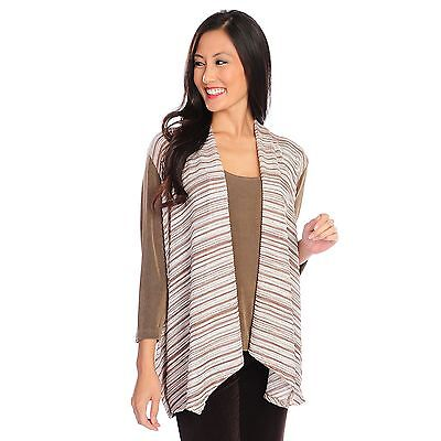 Affinity For Knits Mocha Jacket   Matching Tank Top Plus Sz 3X Evine Live