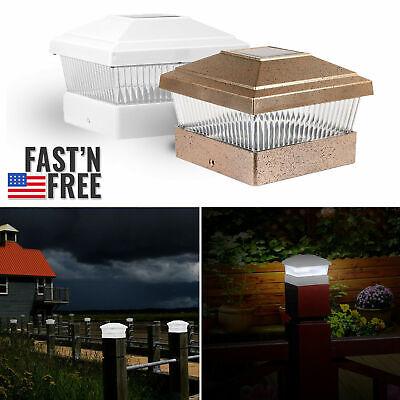 US Outdoor Garden Solar LED Post Deck Cap Square Fence Landscape Light