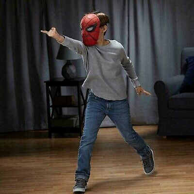 NEW Marvel Spider-Man Movable Eyes Spider Sight Mask Homecoming Cosplay Costume  - 2017 Halloween Costumes Male