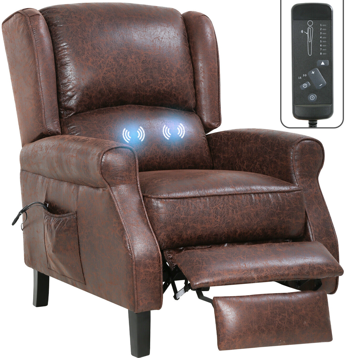 Recliner Chair for Living Room Massage Recliner Sofa Reading Chair Winback Singl Chairs