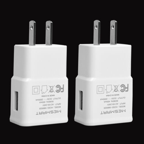 quality design e35cc ae15b 2PCS 2A Fast Charging USB Wall Power Adapter Charger for iPhone X 8 ...