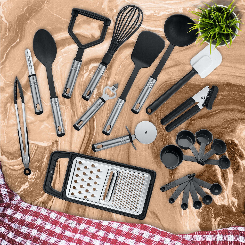 Stainless Steel Kitchen Utensils NonStick  Heat Resistant Cooking Utensils Set