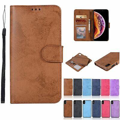 For iPhone 6s 78Plus 5E XS Max XR X Magnetic Detachable Flip Leather Wallet Case