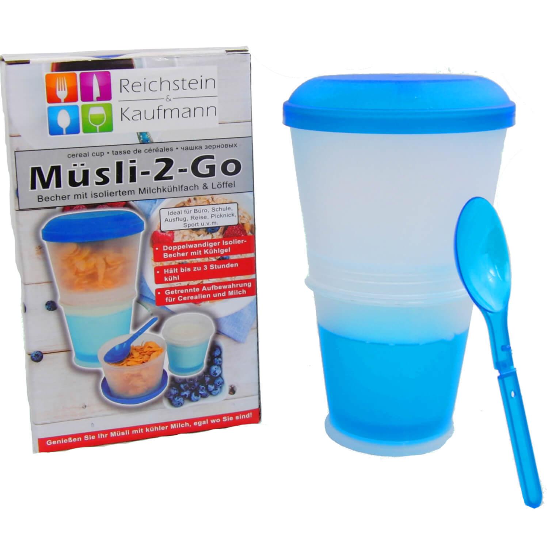 Muesli To Go Tazza con milchkühlfach & Cucchiaio PRATICO PAUSA UFFICIO pic-nic