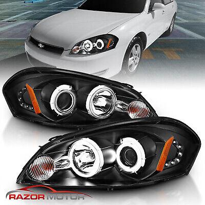 [CCFL Halo] 2006-2013 Chevy Impala/06-07 Monte Carlo Black Projector Headlights