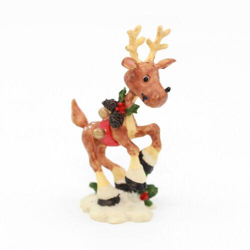 DANCER REINDEER Figurine - The North Pole Village - Enesco
