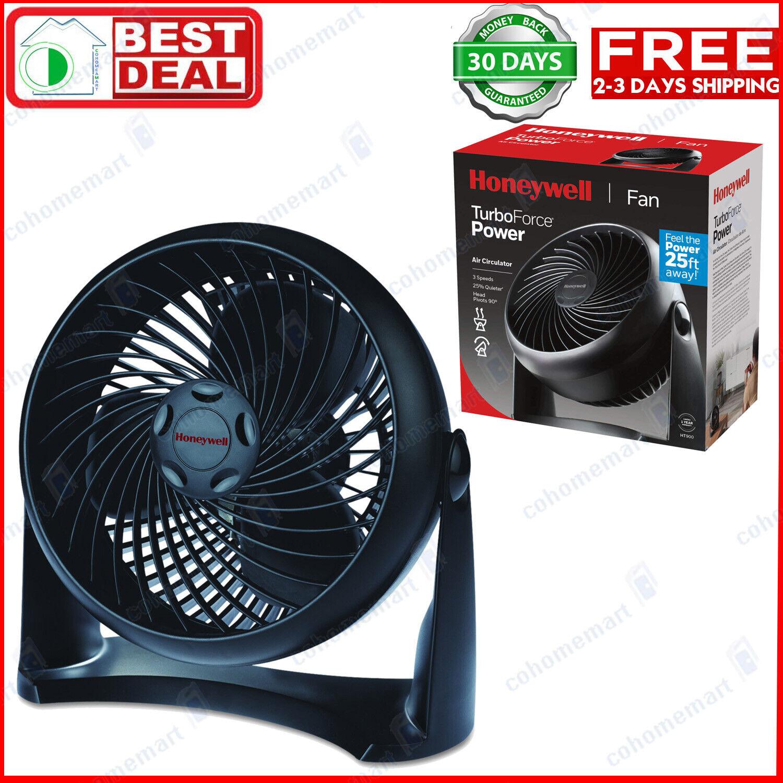 Honeywell TurboForce Air Circulator Small Portable Cooling Fan Black 11 inch