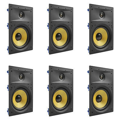 "6 Pack - TDX 6.5"" 2-Way In Wall Home Theater Surround Sound Speaker Flush White"