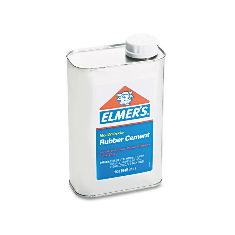 Elmers Rubber Cement Repositionable 1 qt 233