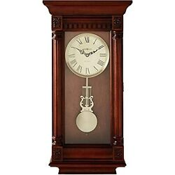 Howard Miller Lewisburg Wall Clock 625-474  Tuscany Cherry with Quartz,