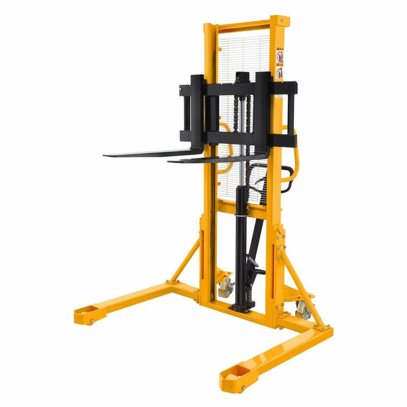 """Manual Pallet Jack Stacker Lift Height 63"""" 2200lbs Cap.with Straddle Legs"""