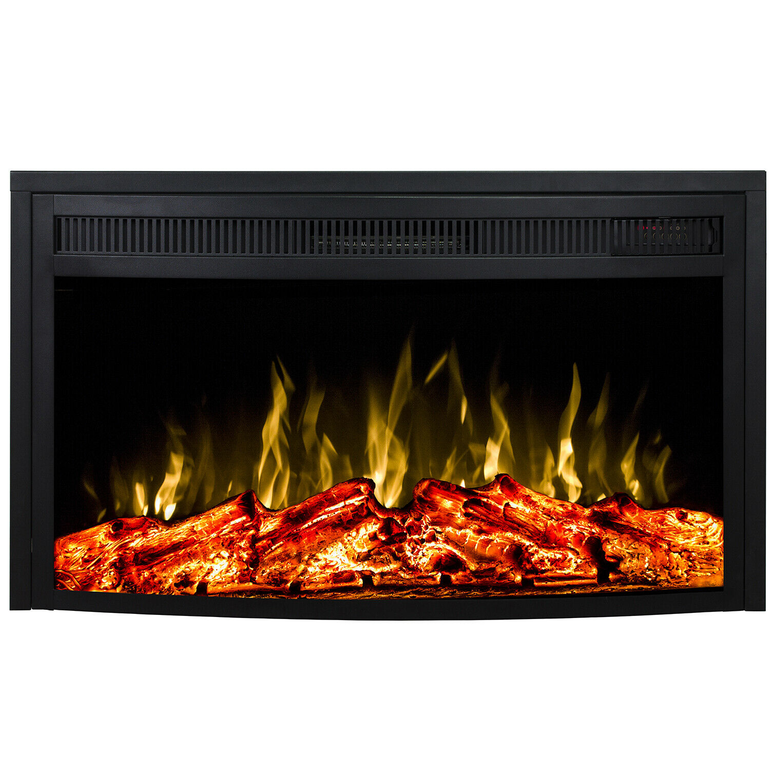 """Regal Flame 33"""" Curved Ventless Heater Electric Fireplace In"""