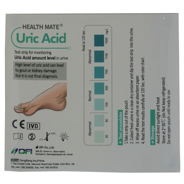 Gout Urine Test Strips - GP/Professional Uric Acid 2