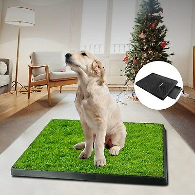 Dog Pee Pads Potty Puppy Training Grass Indoor Potty Toilet w Pet Mat Tray Turf